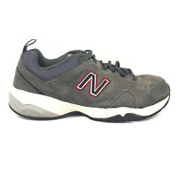 New Balance 609 Trail Running Shoes Mens Size 9 4E EEEE Extra Wide Gray Sneakers