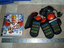 Buzz quiz tv game SONY PLAYSTATION 3 PS3 + oficial Controlador con Cable USB Zumbadores