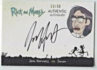 CRYPTOZOIC RICK AND MORTY SEASON 2 * AUTOGRAPH CARD * JESS HARNELL AS SIMON *