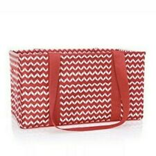 Brand New Thirty-One Med. Utility Tote + Bonus Mini Zipper Pouch in Chevron Dash