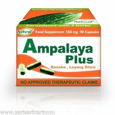 Ampalaya Plus 90 Capsules Bitter Melon Gourd Supplement Natural Anti-Oxidant