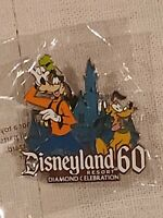 💎Disney Pins Disneyland Resort 60th Anniversary Diamond Celebration Goofy Pluto