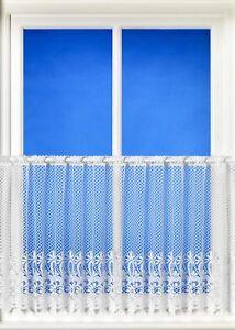 """Ashurst Brazil White Net Café Style Curtain - 30cm (12""""), 46cm (18""""), 61cm (24"""")"""