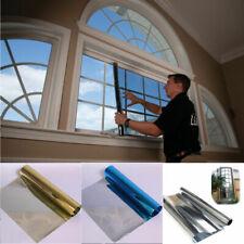Solar Reflective Window Film Home Privacy Mirror Static Cling No Glue Stickers