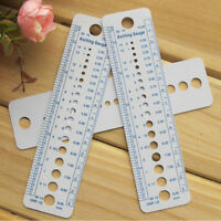 1x Plastic Knitting Needle Size Gauge Ruler Weaving Tools- Inches/CM RS