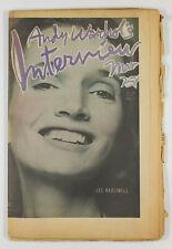 LEE RADZIWILL Uri Geller KEN RUSSELL Andy Warhol's INTERVIEW MAGAZINE March 1975