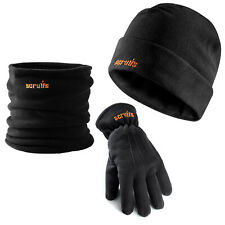 Scruffs Winter Work Essential Accessory Pack Beanie Hat Gloves Neck Warmer Snood