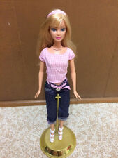 2005 Fashion Fever United Colors Of Benetton Barbie Doll Pink Gingham Top Jeans