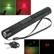 Double rouge et vert Lumière visalbe laser pointeur stylo Starry gypsophile 1mw
