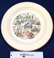 Ohio Knowles State of Ohio Collector Plate with Scenes Around OH