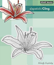 Luminous Flower, Cling Style Unmounted Rubber Stamp PENNY BLACK - NEW, 40-279