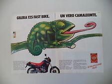 advertising Pubblicità 1987 MOTO GILERA 125 FASTBIKE FAST BIKE