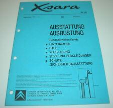 Werkstatthandbuch Citroen Xsara Kombi Besonderheiten Dach Verglasung Sitze 1998!