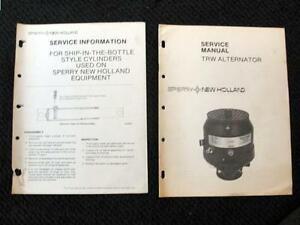 NEW HOLLAND TR 70 75 85 95 COMBINE TRW ALTERNATOR SERVICE REPAIR MANUAL NICE