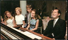 RICHARD NIXON Family at Piano Vintage 1968 Presidential Campaign Postcard Old