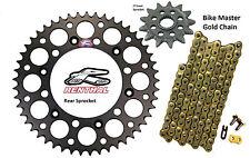 Renthal Black Sprocket and Gold Chain Kit Kawasaki Kx250f Kx 250f 06-15 13-50T