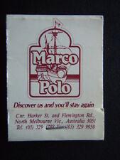 MARCO POLO HARKER ST 3291788 DIPLOMAT MOTOR INN 12 ACLAND ST 5340422 MATCHBOOK