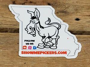 "3"" Missouri Mule Show Me Pickers Missouri State Sticker"