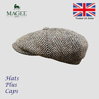 Donegal Brown Tweed Newsboy Peaky Blinders Flat Cap Bakerboy Wool Gatsby Hat
