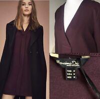 Massimo Dutti Dress UK 12  M Autumn/Winter Dress Cotton Blend, Free Post