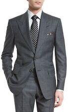 Grey Men's Peak Lapel Wedding Groom Tuxedos Groomsman Best Man Party Prom Suits