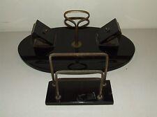 Antique 19th C. Black Marble Slate Desk Set