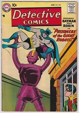 Detective Comics #258 VF- 7.5 Batman Robin Prisoners Of The Giant Robots 1958!-