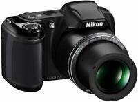 NIB -Nikon Coolpix L340 20.2 MP Digital Camera - 28x Optical  - US Version - BLK