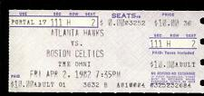Basketball Ticket Atlanta Hawks 1982 Boston Celtics 4/2 Larry Bird