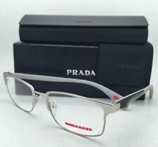 New PRADA Sport Eyeglasses VPS 50F TIH-1O1 54-18 Silver+Grey+Carbon Fiber Frames