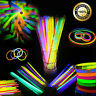 "200PCS 8"" GLOW STICKS BRACELETS NEON COLOURS PARTY DISCO PACK WITH CONNECTOR"