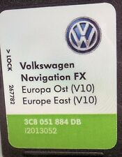 Pas UK! 2018 Volkswagen RN 310 Navigation Carte SD V10 EAST EUROPE MAPS