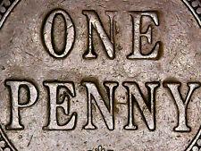 1921 Australia 1d One Penny ** ERROR SPUR ON N ** #2073 =LUMPY=