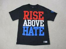 WWE John Cena Shirt Adult Large Black Red Rise Above Hate WWF Wrestling Mens