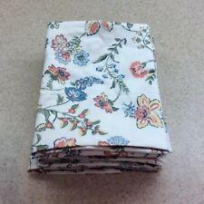 New LinenSource Pair King Pillow Cases Floral Pattern Cotton