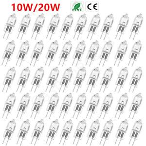 G4 Halogen Capsule Light Bulbs Replace Lamp 12V 10W 20W 2800K Warm White 2 Pin