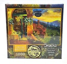 Limited Ed Viktor Shvaiko 1000 pc Jigsaw Puzzle - Sunset Blaze Mega Glue Booklet