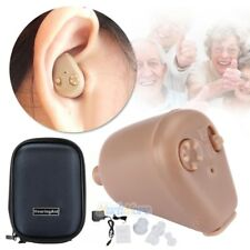 Rechargeable Digital Mini In Ear Hearing Aid Adjustable Tone Amplifier 2019 NEW