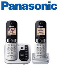 Panasonic KX-TGC222S DECT 6.0 2 Cordless Phones w/Answering Machine