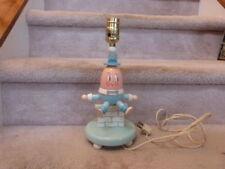 "VINTAGE Mid Century 1960s Wooden Nursery Pastels HUMPTY DUMPTY Lamp 12"""