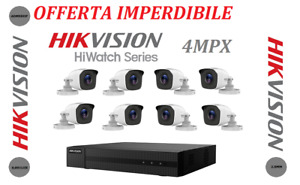 TELECAMERE VIDEOSORVEGLIANZA HIKVISION 8CANALI 4 MPX
