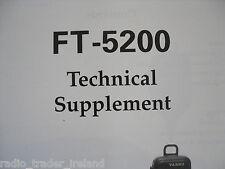 Yaesu Ft-5200 (Genuino Suplemento técnico sólo)....... radio_trader_ireland.