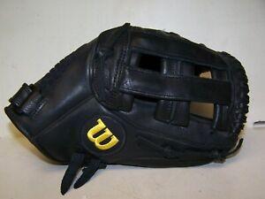 "Wilson A600 11 "" Baseball Softball Glove Black A2472 Right Hand Throw EXC COND"