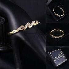Armreif, Armspange, Armband *Edle Ranke* Rosegold pl, Swarovski Elements, +Etui
