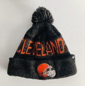 CLEVELAND BROWNS 47 Brand NFL Knit Pom Winter CAP HAT Orange/Black Pre-owned