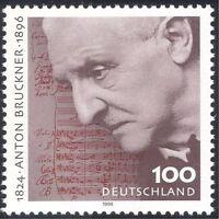 Germany 1996 Bruckner/Music/Composer/People/Musical Score 1v (n31852)