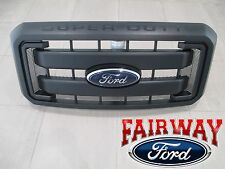 11 thru 16 Super Duty F250 F350 F450 OEM Genuine Ford Black Grille with Emblem