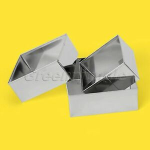 3Pcs/Set Silver Square Biscuit Molds Stainless Steel Cookies Molds Cookie Mould