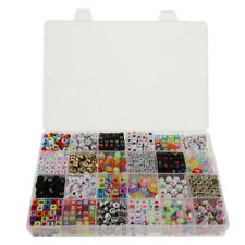 1650 Pieces Acrylic Number Alphabet A-Z Beads for Bracelets Necklaces Making