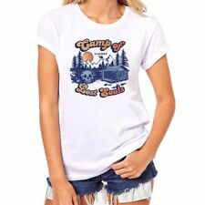 Camp of Lost Souls Funny Women Ringer T-Shirts Cotton Short Sleeve Halloween Tee